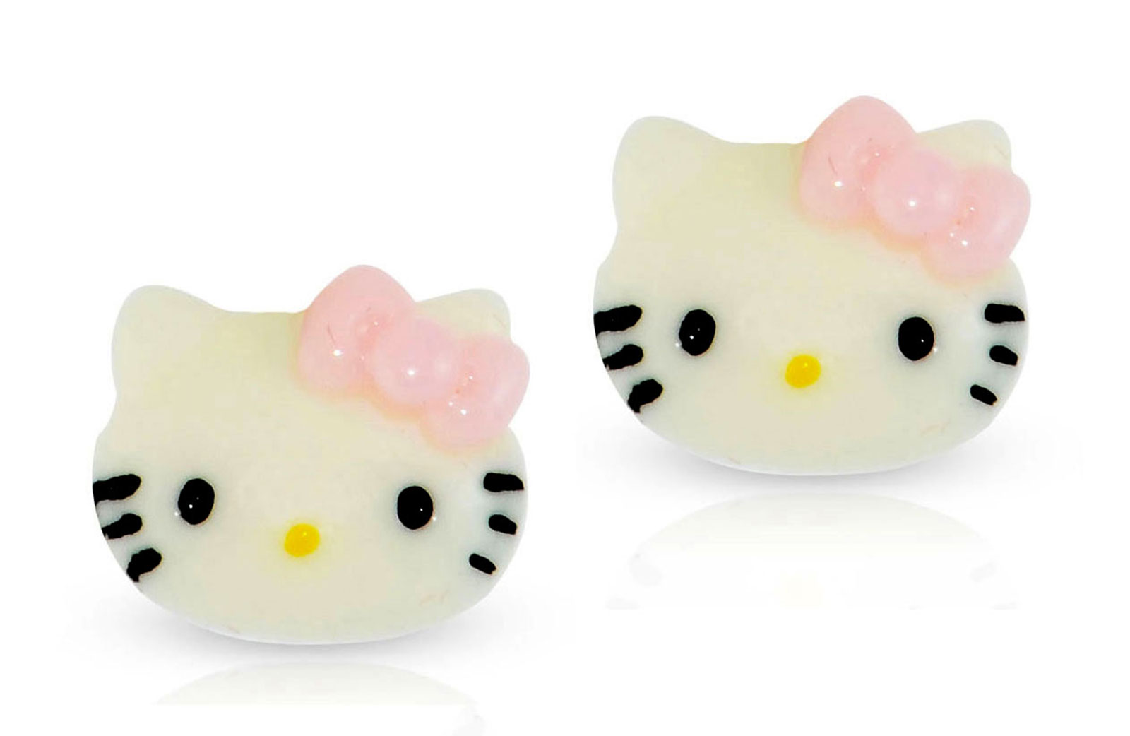 Vera Perla 10K solid Gold Kitty Raisin Earrings
