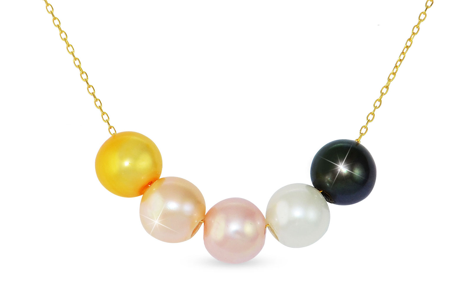 Vera Perla 18k Gold Interchangeable Pearls Necklace