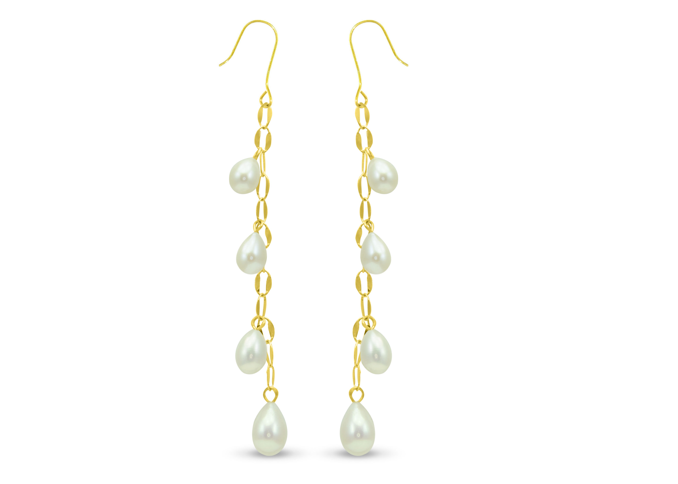 Vera Perla 18K Gold Pearl Drops Earrings